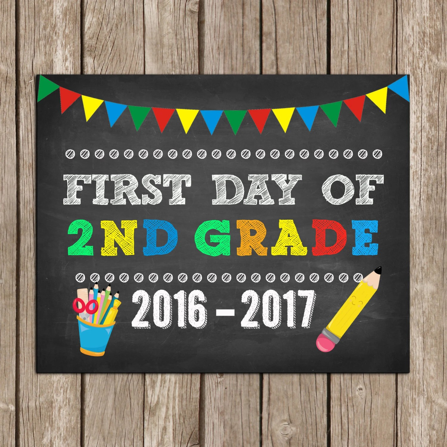 First Day And Last Day Of 2nd Grade Second By Thelovelydesigns