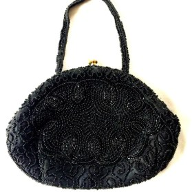 Vintage Clutch - Black Evening Bag - Clutch Purse - Designer Clutch
