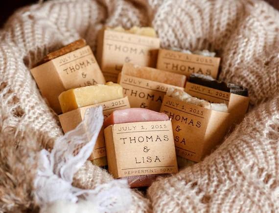 20 Shower Favors Personalized Gift Wedding Favor Soap Bridal