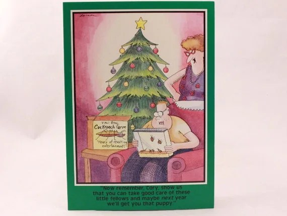 Vintage 1988 Gary Larson Far Side Greeting Card And Envelope
