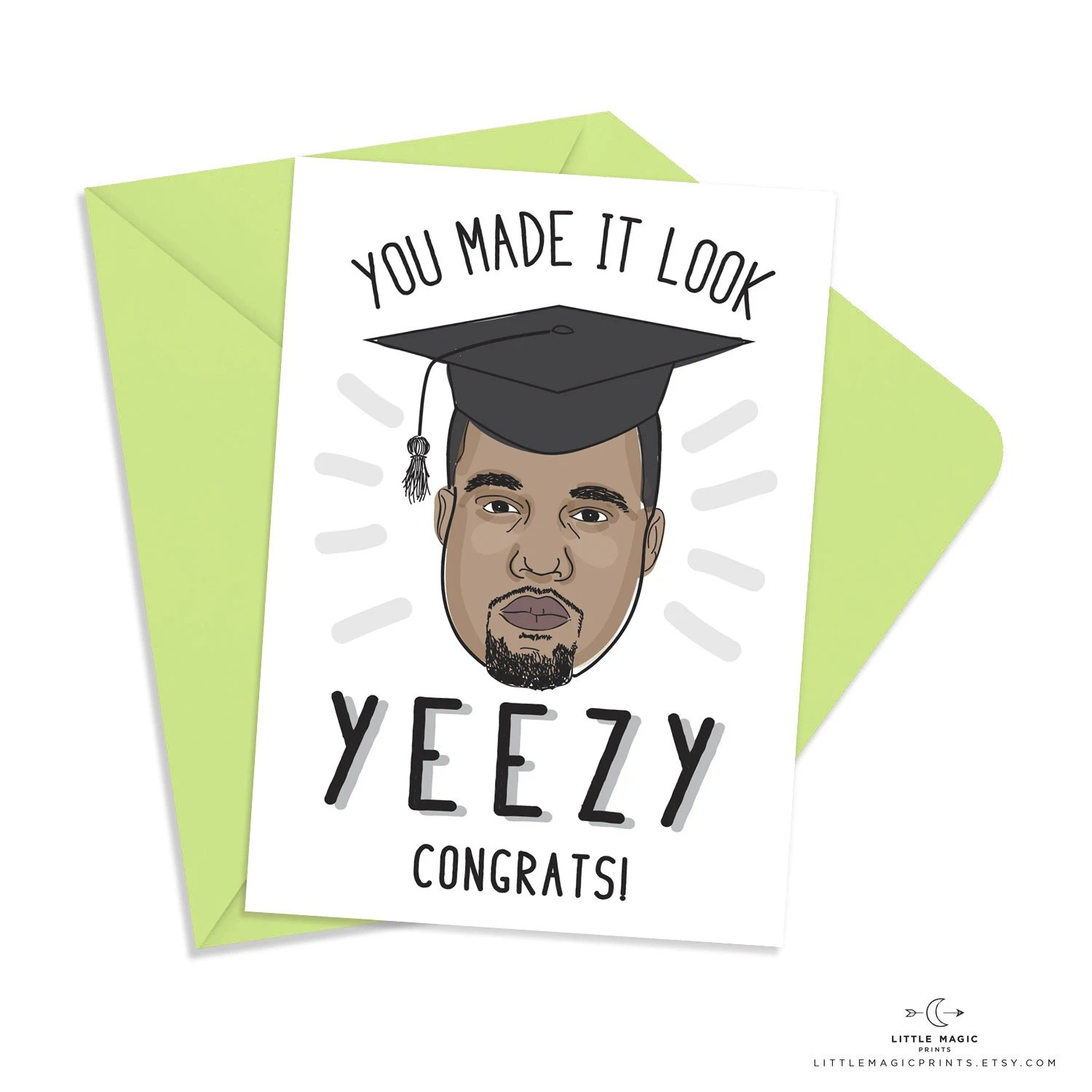 Printable Kanye West Graduation Congratulations Card INSTANT