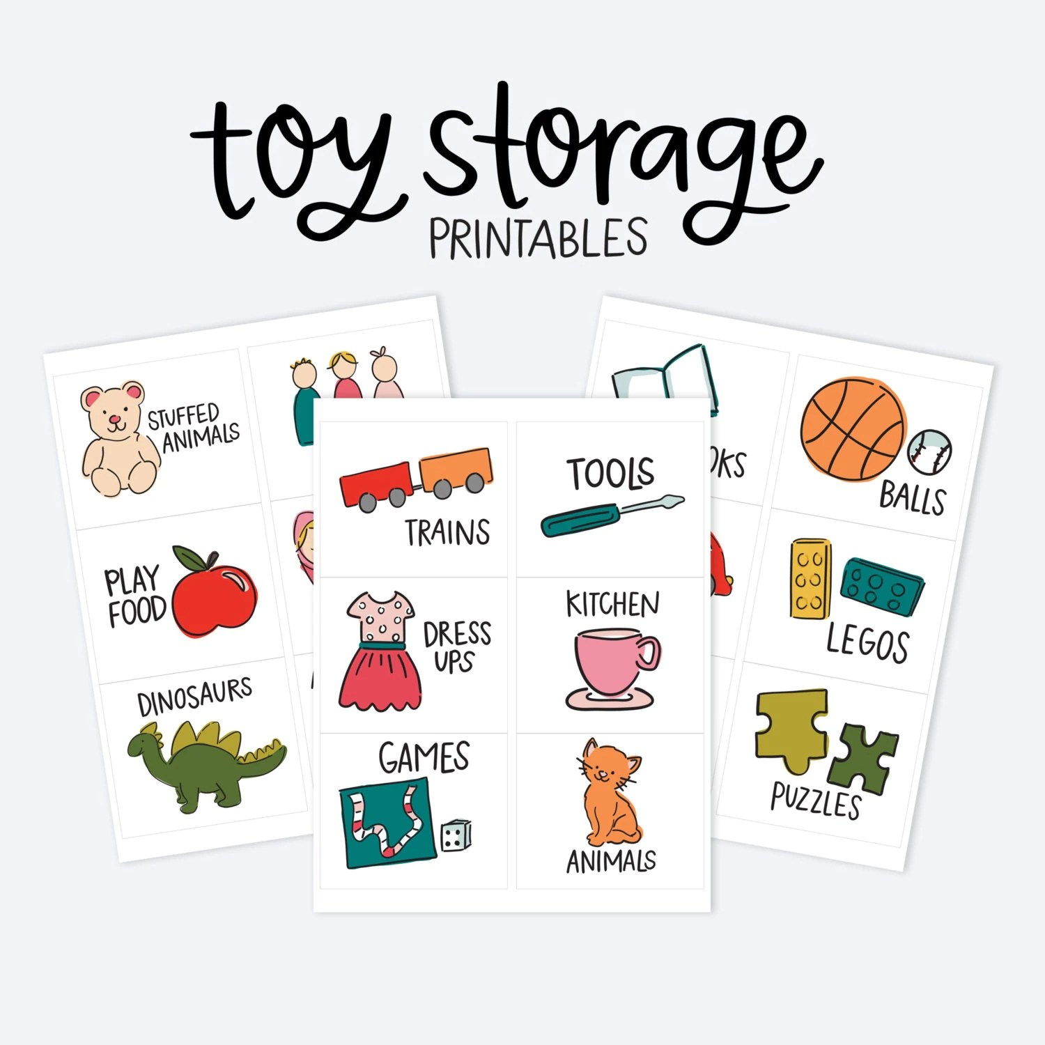 Kids Toy Room Organization Labels Storage Picture Printables