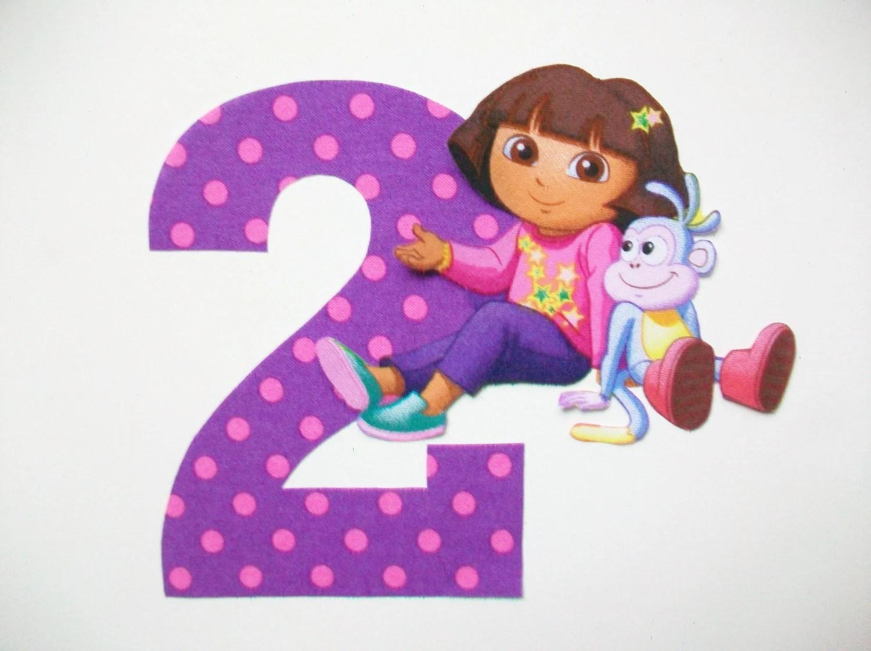 Diy No Sew Dora The Explorer Applique And Number Iron On