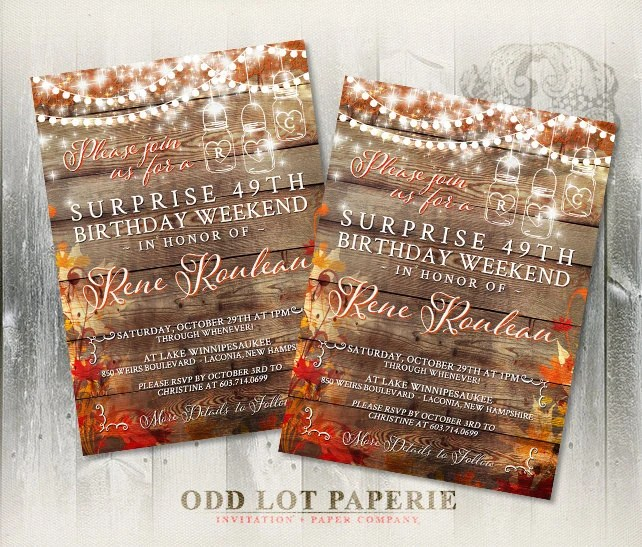 Printable Mason Jar Invitations