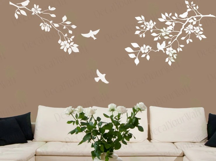 Cherry Blossom Wall Decal Large Tree Branch Nursery Living