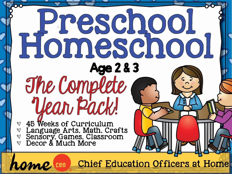 Homeschool Preschool Age 2 3 Complete Year Curriculum Bundle