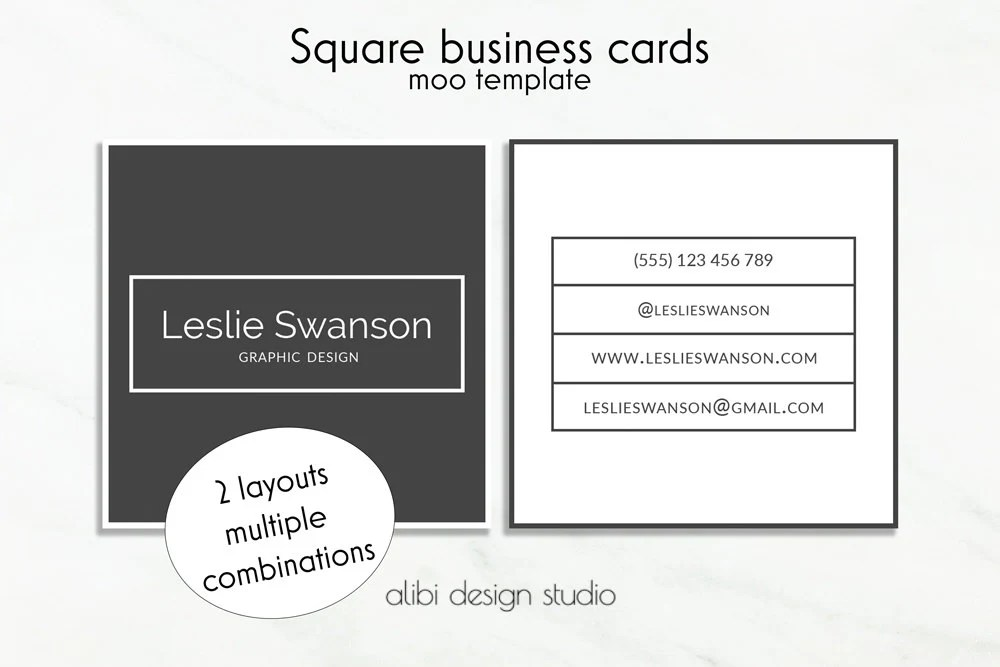 Moo Com Business Card Template Browse Square Design United