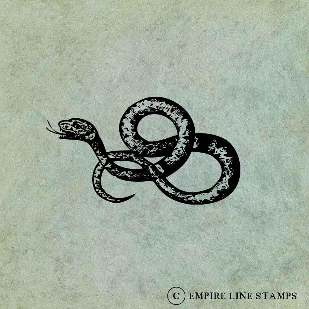Coiled Slithering Snake -...