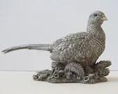Silver Pheasant figurine,...