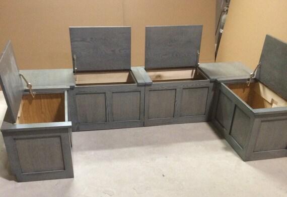 White Oak Banquette Corner Bench Seat With Storage