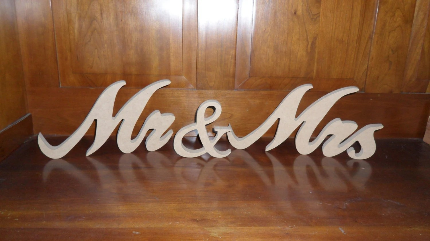 Mr And Mrs Sign DIY Mr And Mrs Wood Sign Wooden Mr And Mrs