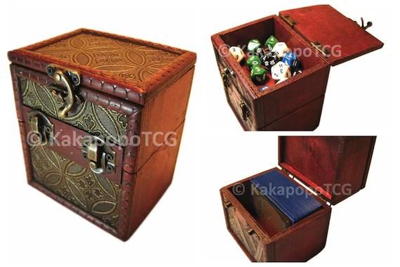 Wooden TCG Deck & Counter Dice Box