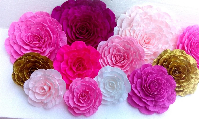 De Como Papel Rosas Hacer