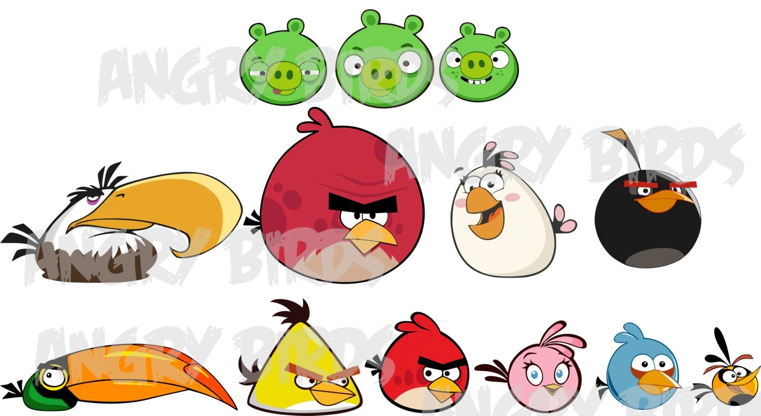 Angry Birds Svg Electronic Cutting Files For Cricut Design