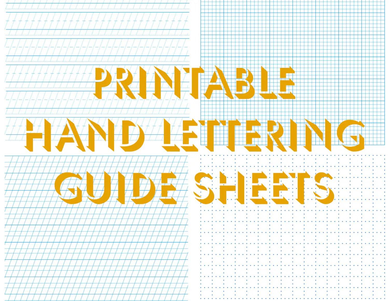 Hand Lettering Practice Sheets Hand Lettering Worksheets
