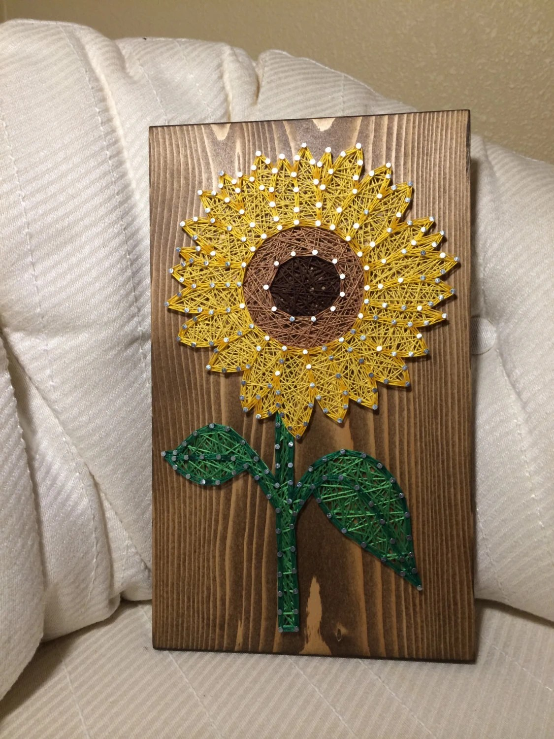 CUSTOM Sunflower String Art Sign Sunflower Wall Art By