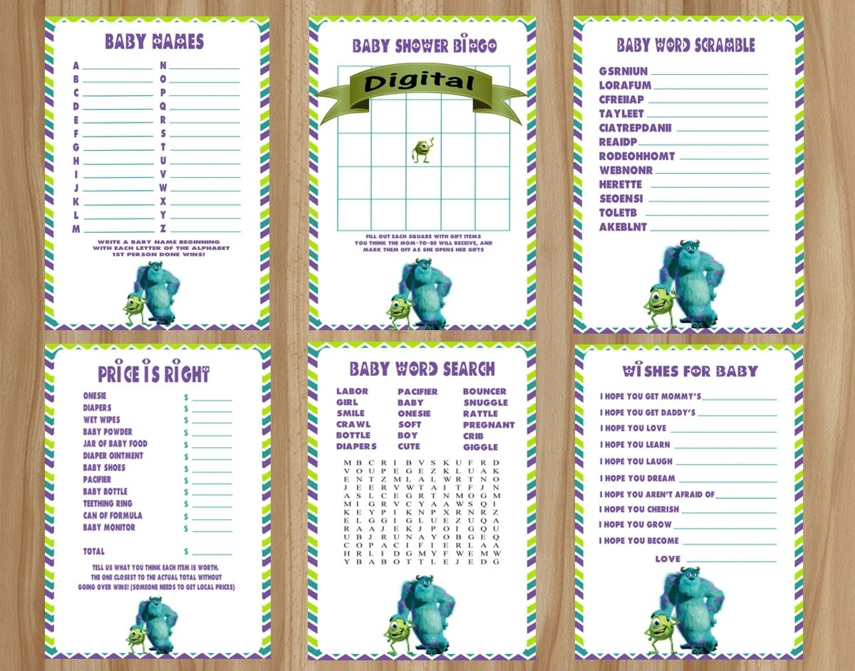 Monsters Inc Baby Shower Games Monsters Inc Baby By Digitaldelites