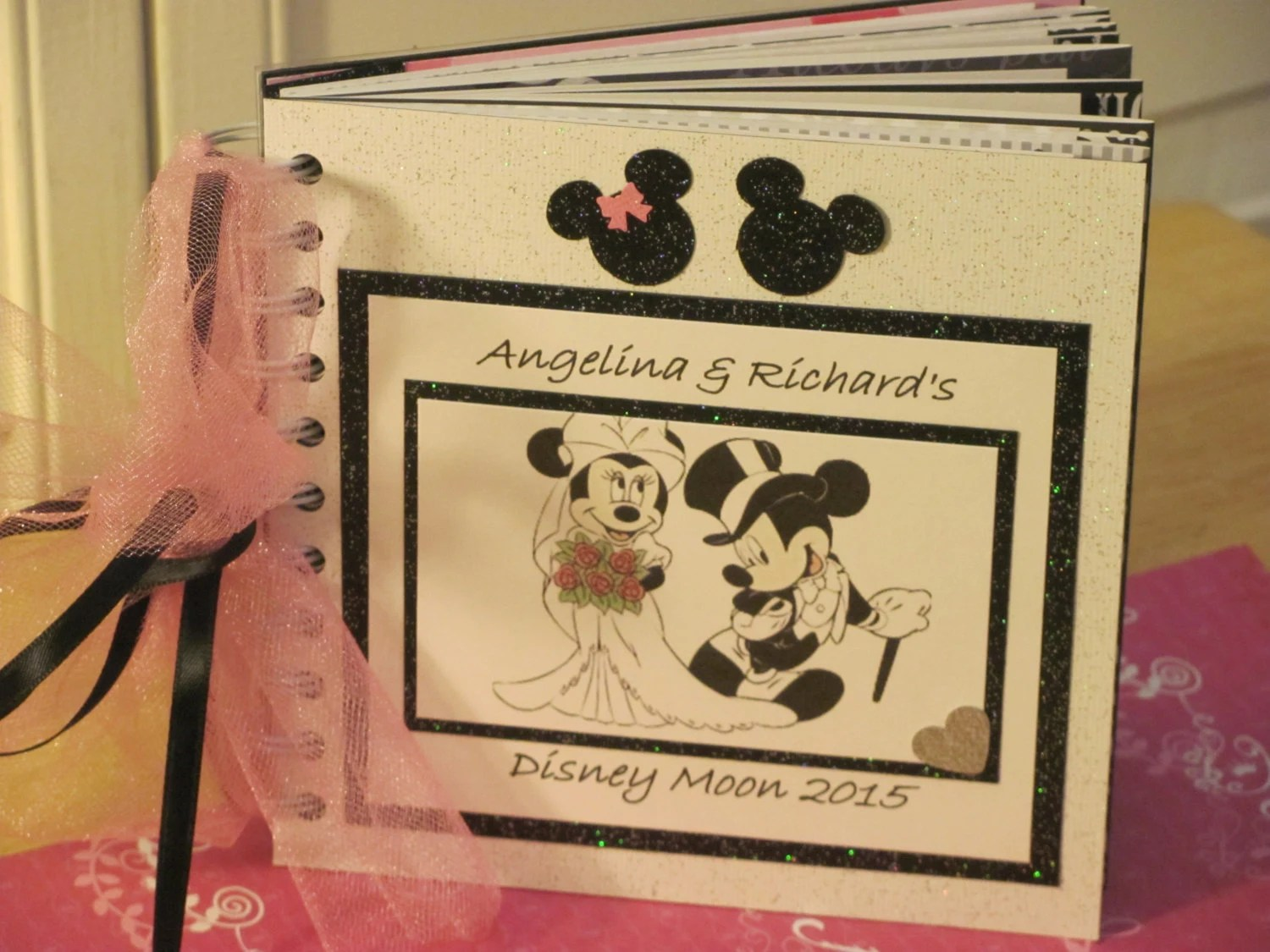 Disney Wedding Autograph Book Mickey And Minnie Mouse Wedding