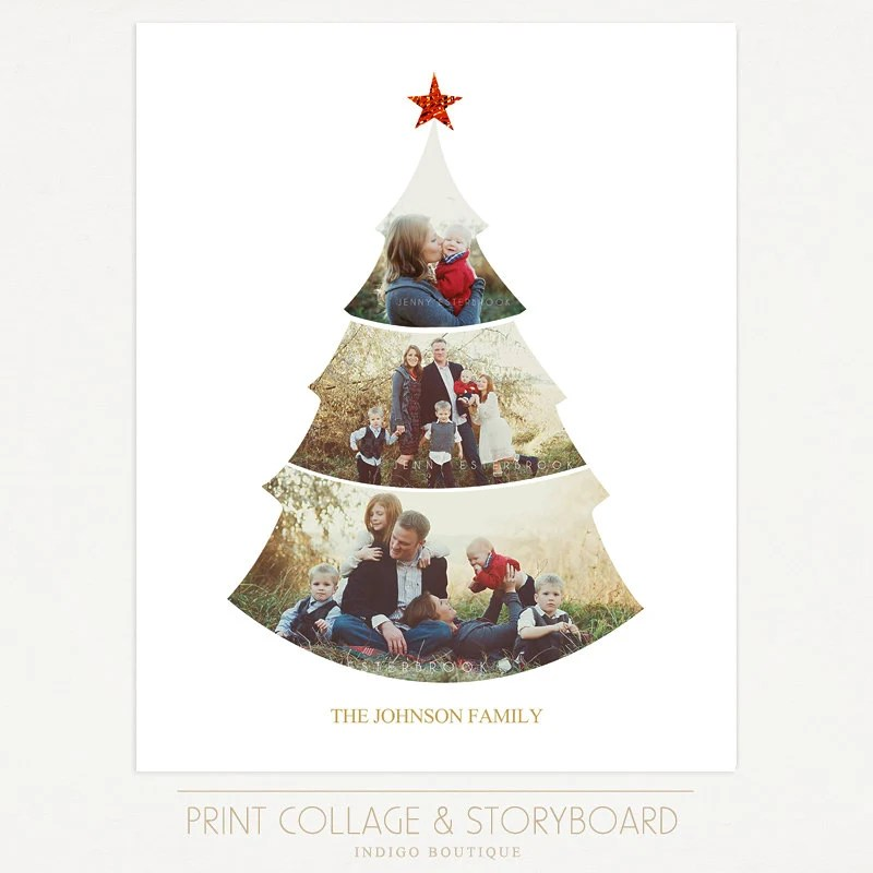 Christmas Tree Collage Template 16x20 Print Template Blog