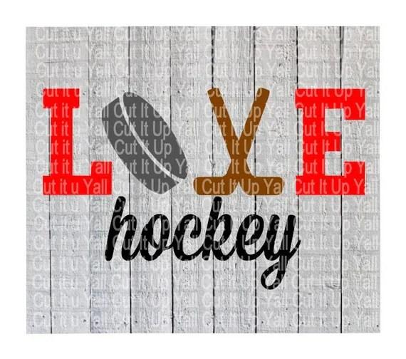 Download Hockey Svg Love HockeyHockey Mom Ice Hockey Sports by ...