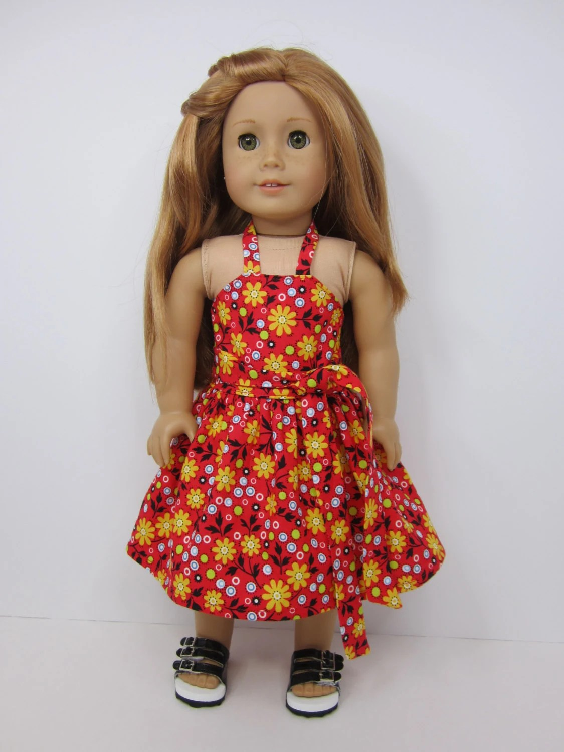American Girl Doll Clothes Fun Red Print By Jazzydollduds