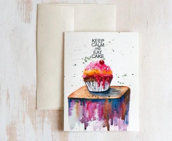 Items Similar To Watercolor Card Hand Painted Original