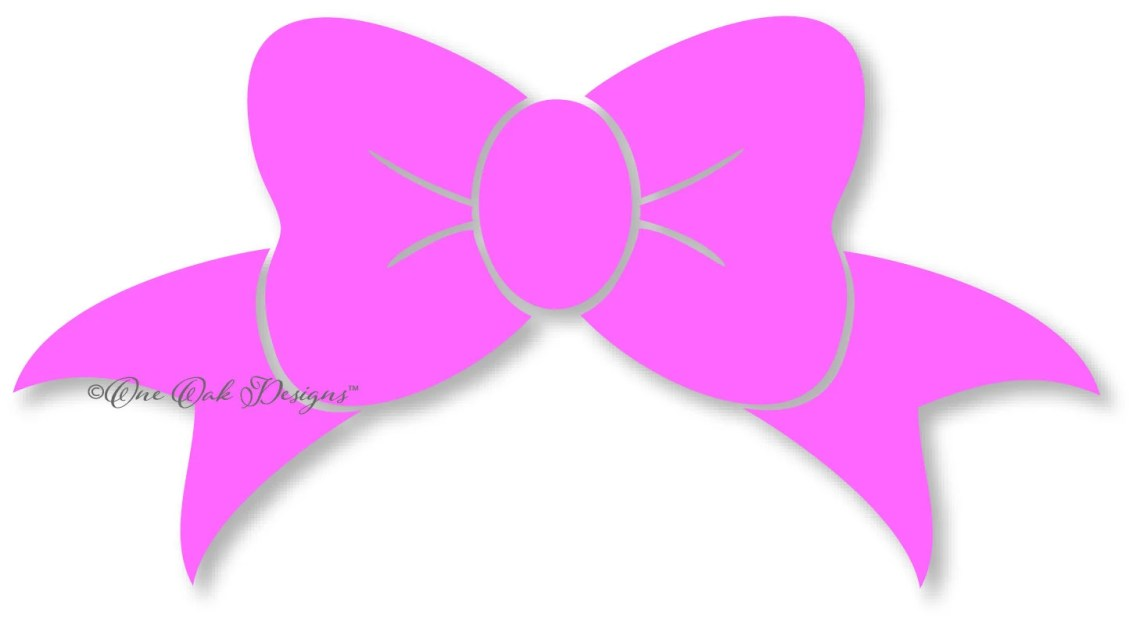 Download Bow svg dxf pdf eps png jpg Silhouette Studio Design Files for