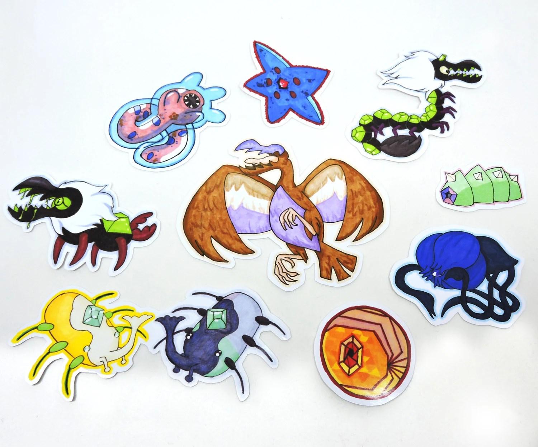 Steven Universe Corrupted Gem Stickers