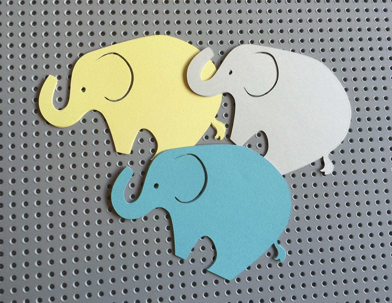 Baby Shower Elephant Cut Cutout Cut Outs Paper Parent