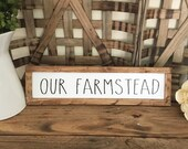 Our Farmstead Wood Framed...