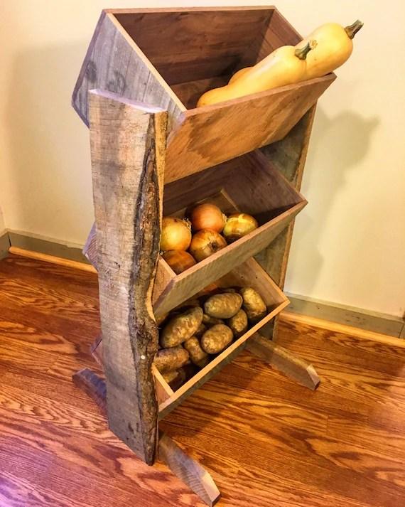 Potato Bin Potato And Onion Bin Vegetable Bin Farmhouse