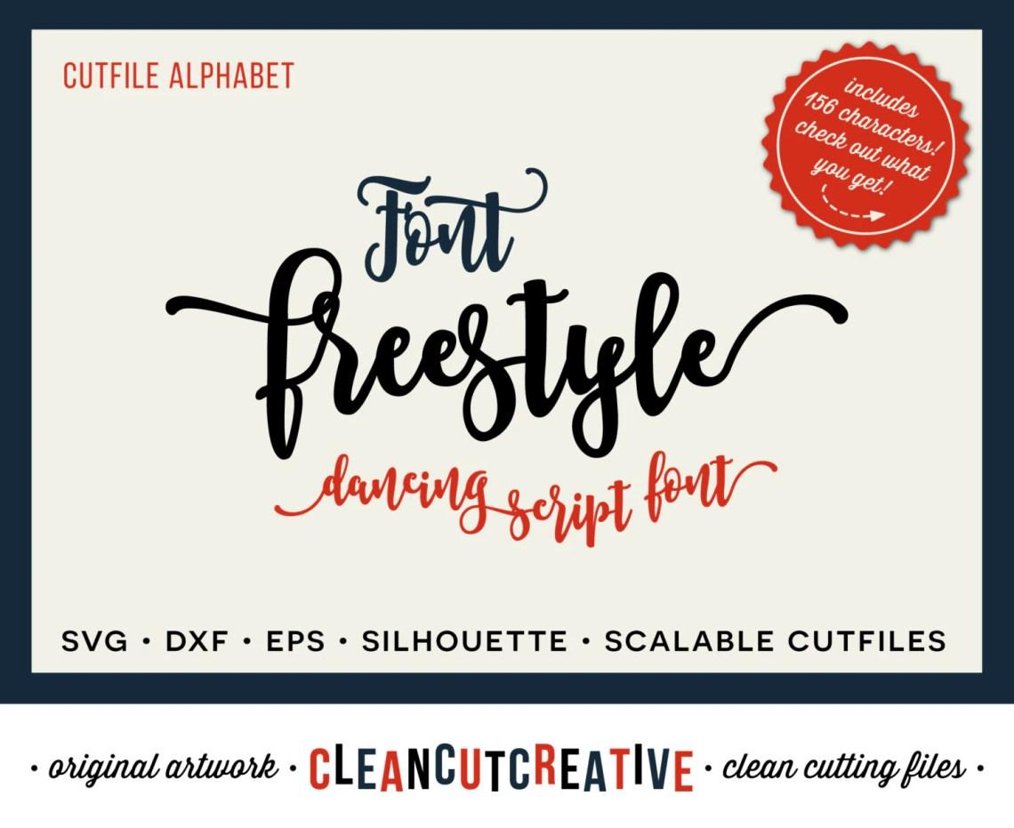 Download Full Alphabet SVG Font file svg Happy Fun Script cricut font