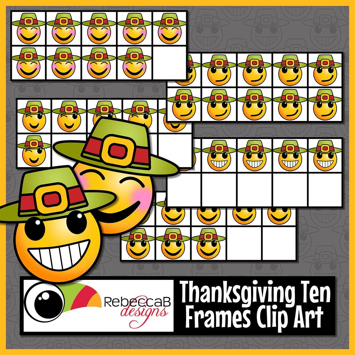 Thanksgiving Ten Frames Clip Art Thanksgiving Clip Art Emoji