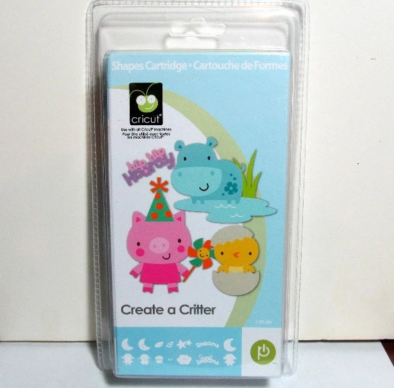 Critter Create 2 Cricut Cartridge