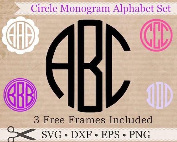 Download Circle Monogram SVG, EPS, DXF, Png Files, Circle Monogram ...