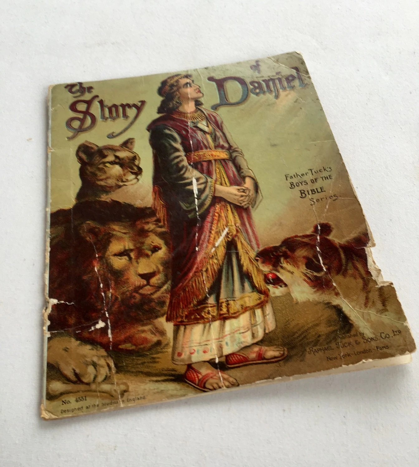Story Of Daniel Bible Children S Book Father Tuck S By