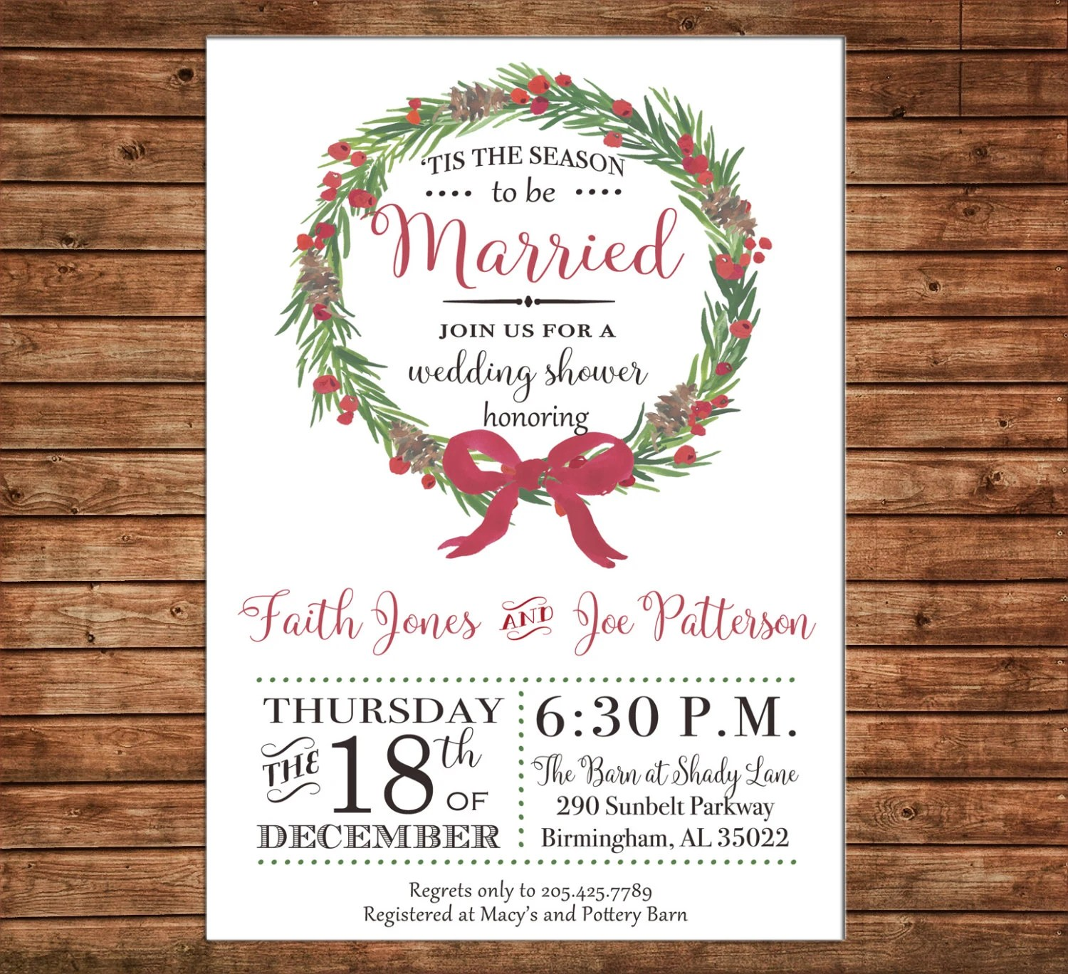 Free Printable Wedding Invitations 5x7