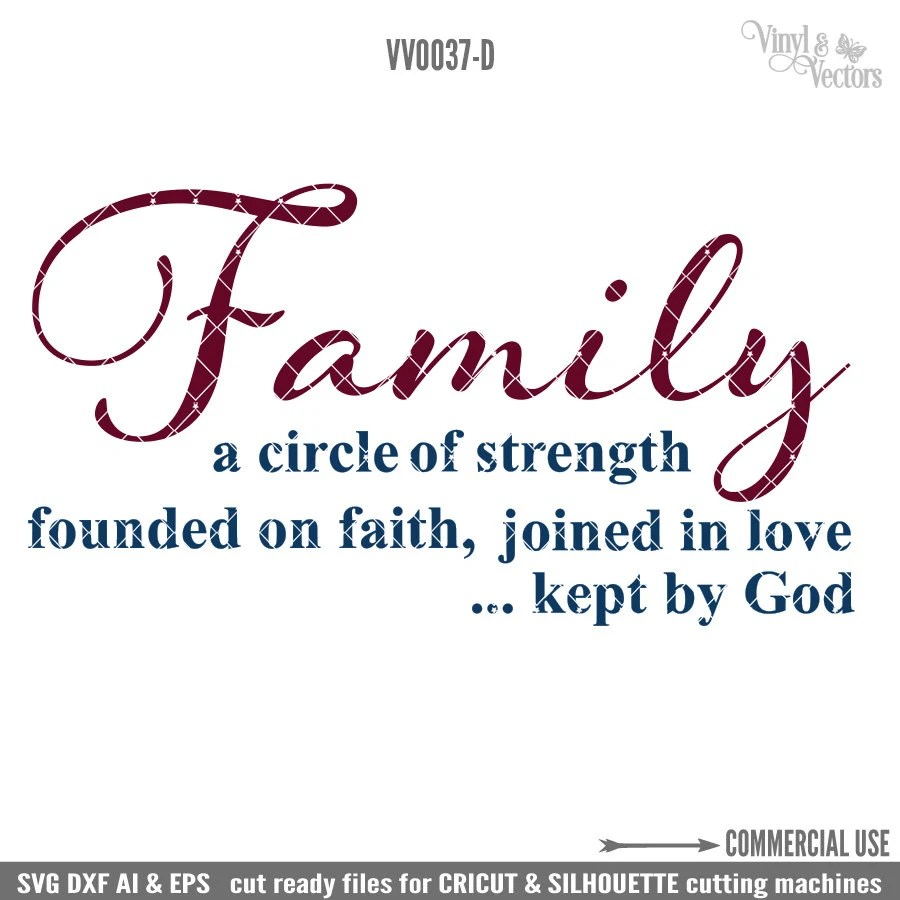 Download Family is a circle of strength founded on faith joined in love