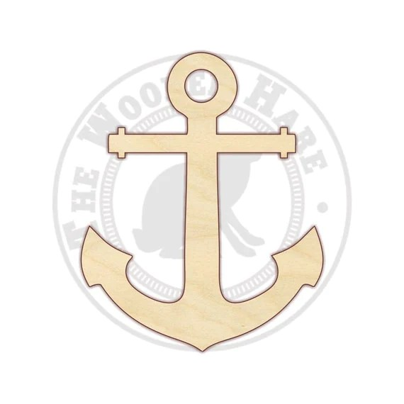 Anchor Large Cutout Wooden