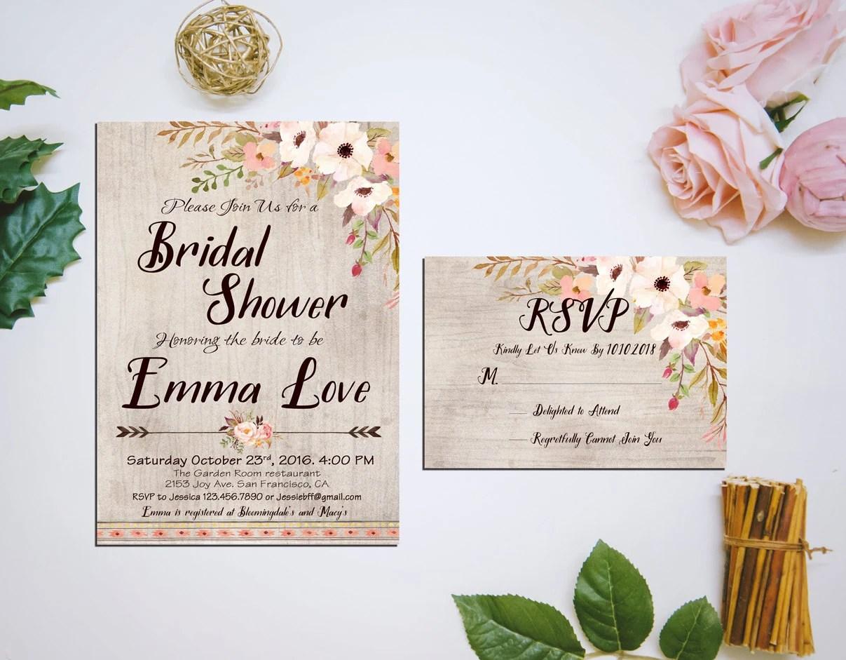 Bridal Shower Invitations Rsvp
