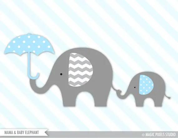 Elephant Clipart, Baby Elephant Clipart, Elephant Clip Art