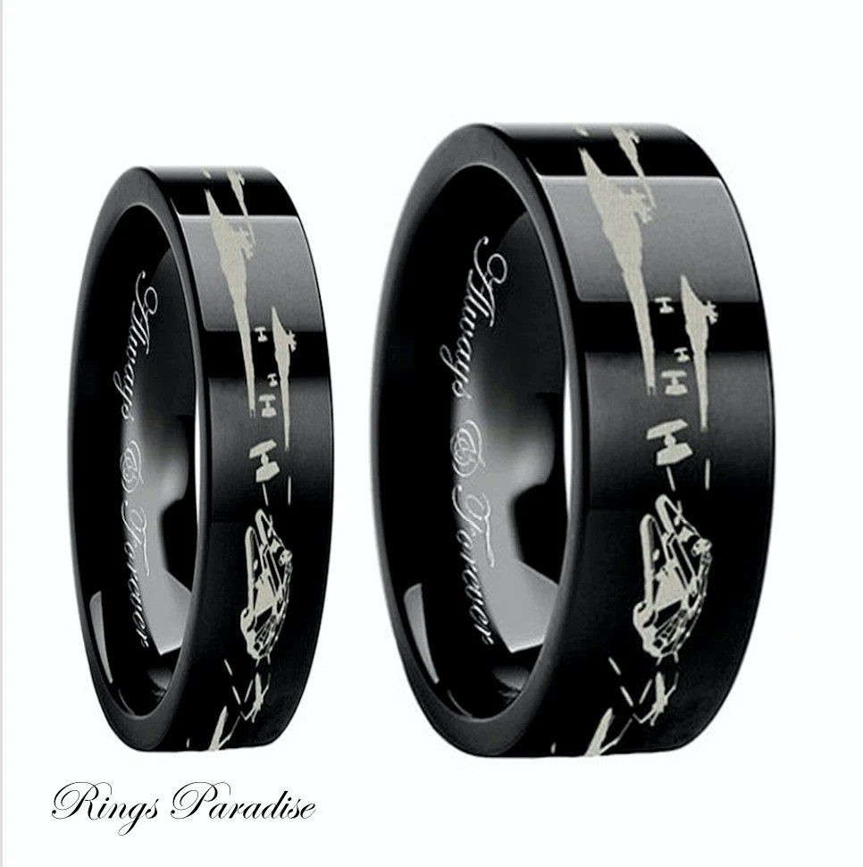 Star Wars Couples Wedding Bands Star Wars Wedding By