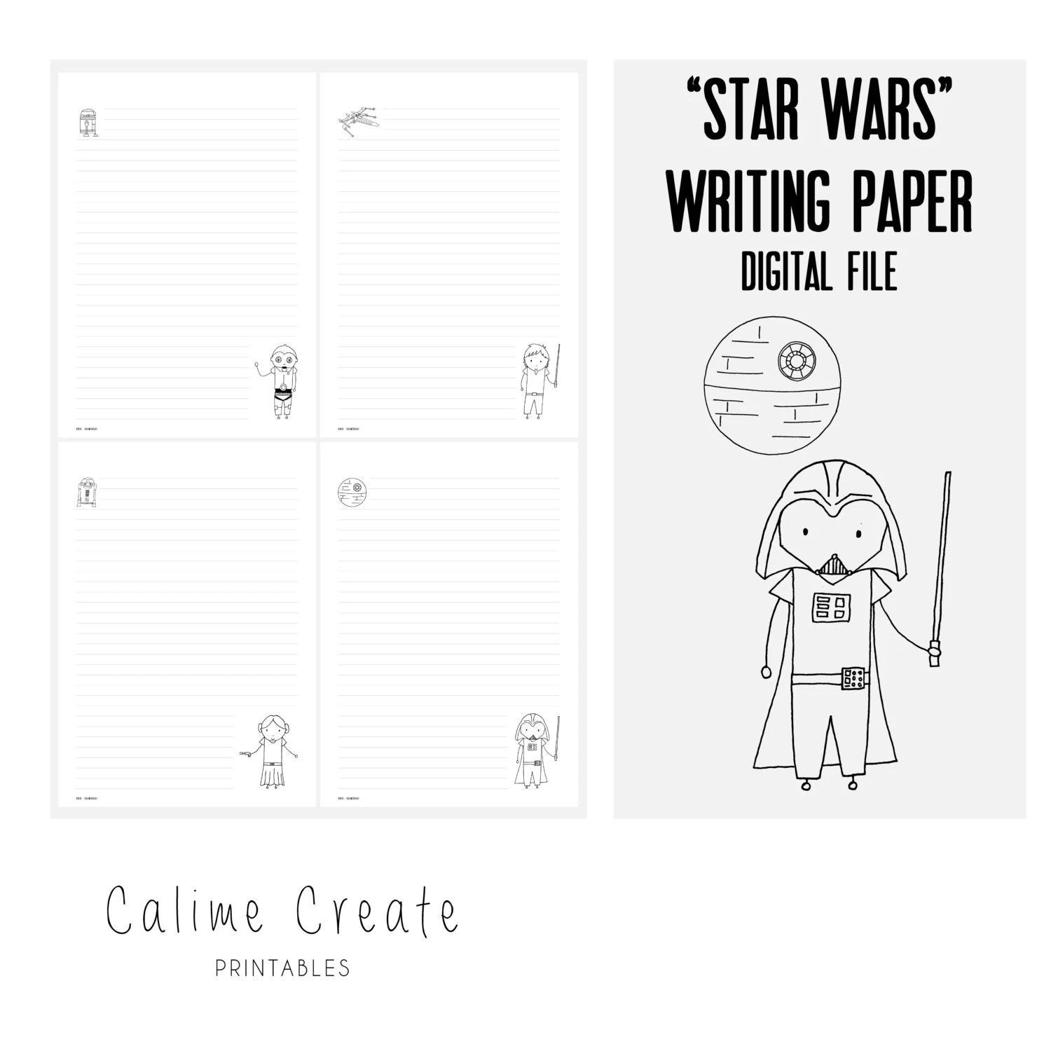 Digital Star Wars Writing Paper Stationary Paper By