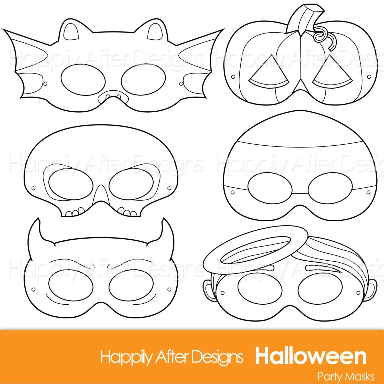 Halloween Printable Coloring Masks Halloween Costume