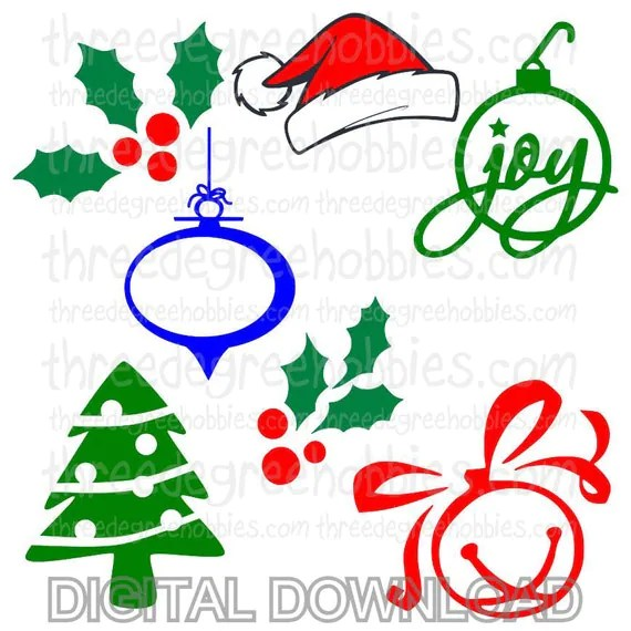 Download Christmas Pack 1 Digital Download SVG DXF EPS Silhouette ...