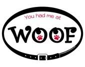 DECAL - You had me at Woo...