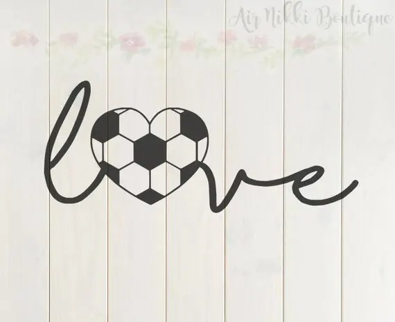 Download Soccer Love soccer ball heart sports SVG PNG DXF files