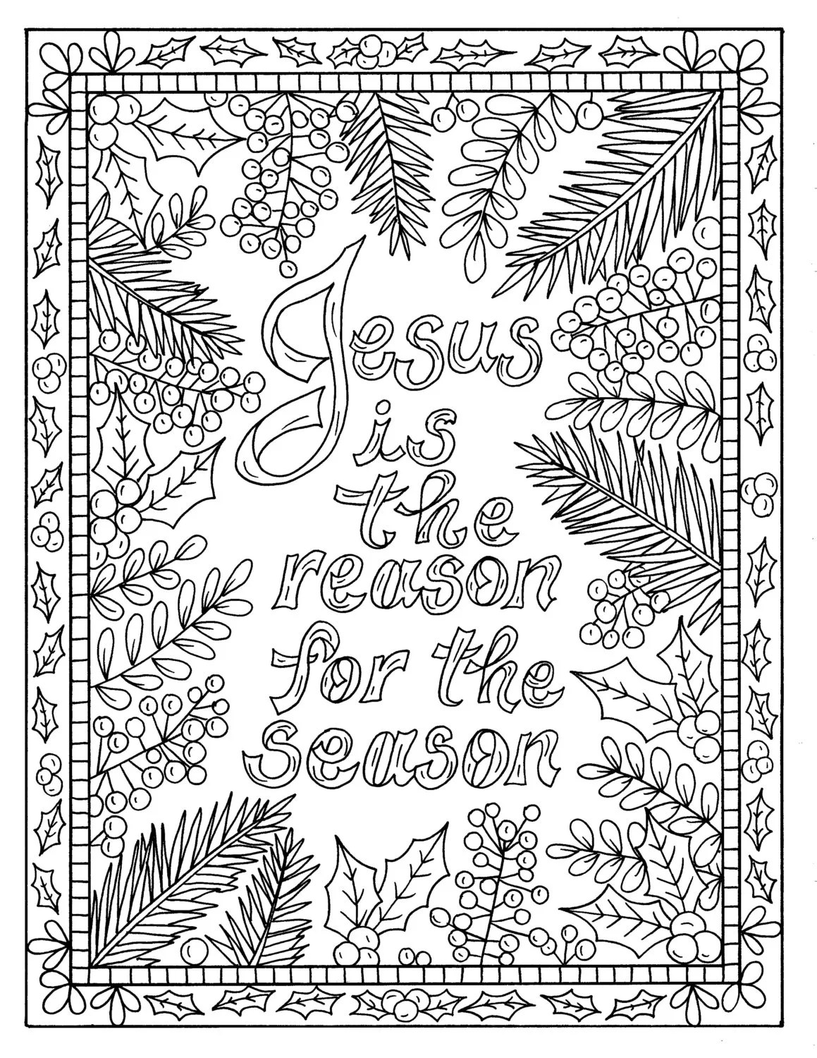 5 Christian Coloring Pages For Christmas Color Book Digital