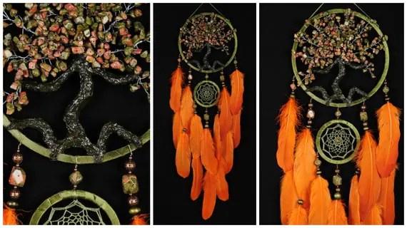 Dreamcatcher Orange Olive Dream Catcher Tree Of Life