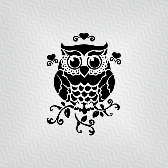 Download Owl svg Owl Design Cutout Vector art Cricut Silhouette